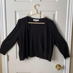 Loft Petites - Black open sweater